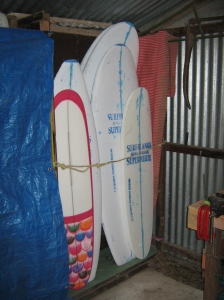 Another angle on the board holding space