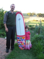 Stoked teamrider in Rainbow Fish colours